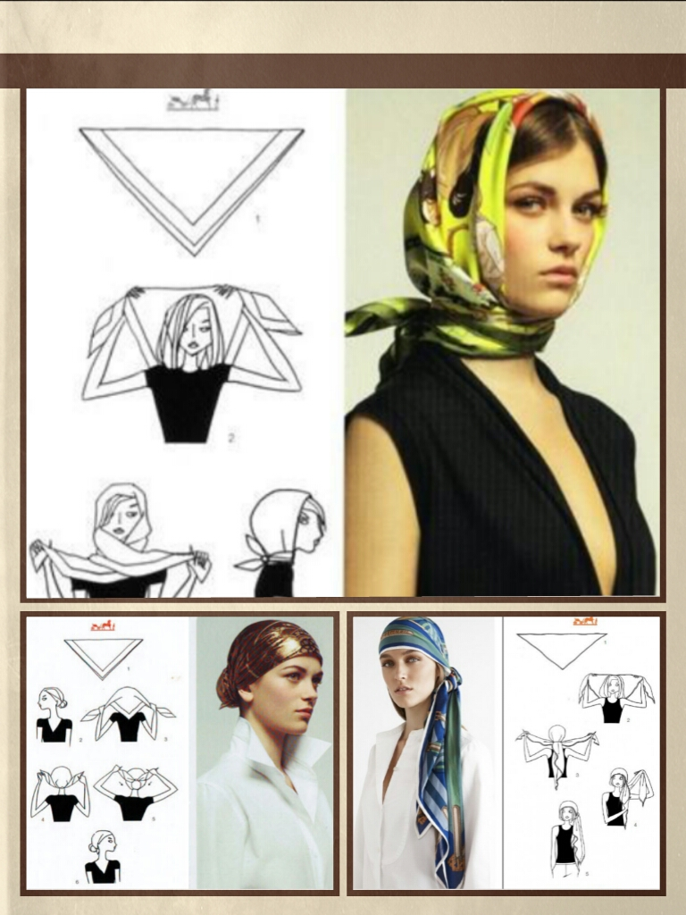 come indossare un foulard