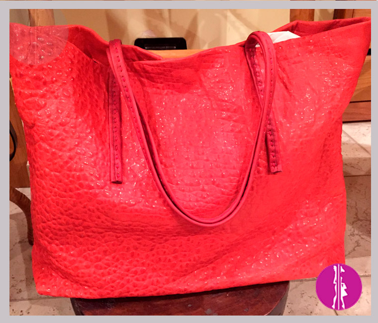 borsa shopper rossa made in italy
