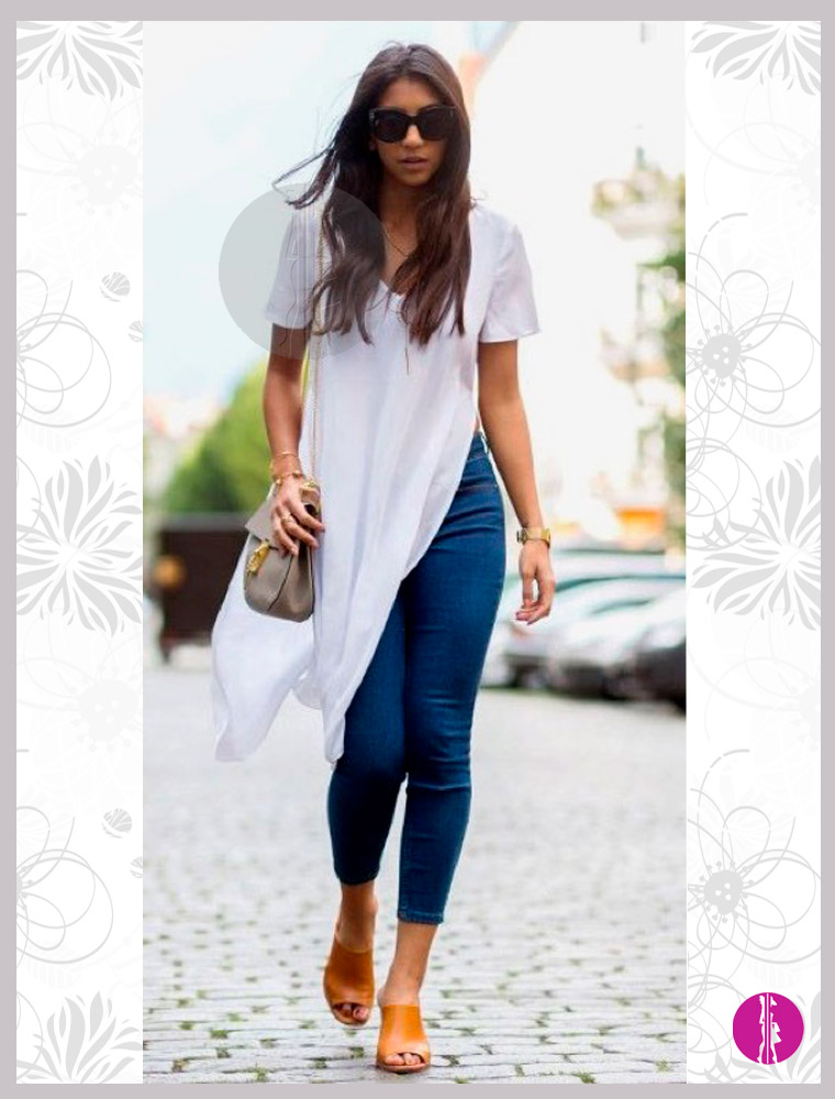 t-shirt-lunga outfit estivo